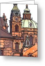 Prague 1 Greeting Card by Phil Robinson