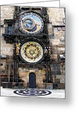 Prague Astronomical Clock Greeting Card