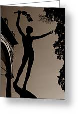 Prague Castle Statue Greeting Card