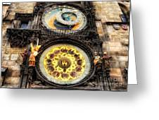 Prague Clock Orloj Greeting Card