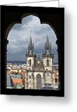 Prague From Town Hall Tower Greeting Card