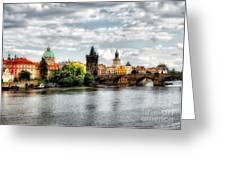 Prague Panorame Greeting Card