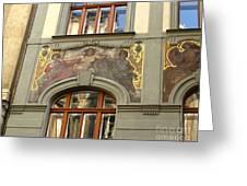Prague - Mucha Mural Greeting Card