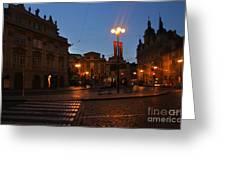 Prague Old Town At Night Greeting Card