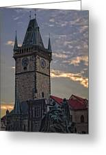 Prague Old Town Hall Greeting Card