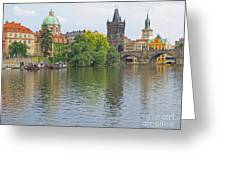 Prague Reflected Greeting Card