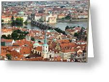 Prague - View From Castle Tower - 03 Greeting Card