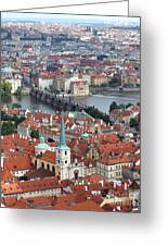 Prague - View From Castle Tower - 10 Greeting Card