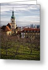 Prague View From The Gardens Greeting Card