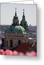 Prague With Pink Greeting Card