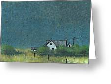 Prairie Homestead Greeting Card by John Wyckoff