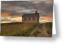 Prairie Schoolhouse Greeting Card