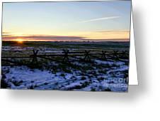 Prairie Sunrise Greeting Card