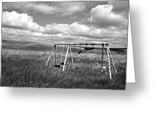 Prairie Swing Set Greeting Card