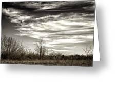 Prairie Winter Sky Greeting Card