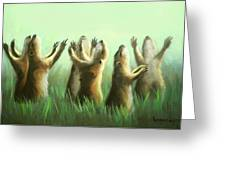 Praising Prairie Dogs Greeting Card