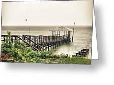 Prange Street Pier Raining Greeting Card