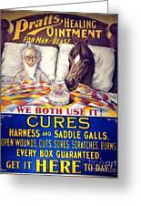 Pratts Healing Ointment Greeting Card