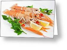 Prawns With Lemon And Parsley  Greeting Card