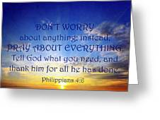 Pray About Everything 1 Greeting Card