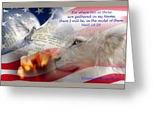 Pray For Our Nation Greeting Card