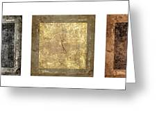 Prayer Flag Triptych Series Two Greeting Card