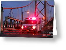 Prayer For Emergency Health Care First Responders Greeting Card