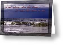 Prayer In Storm Greeting Card