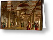 Prayer In The Mosque Greeting Card by Jean-Leon Gerome