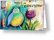 Praying And Waiting Bird Greeting Card
