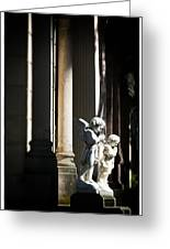 Praying Angle - Sucre Cemetery Dramatic Greeting Card