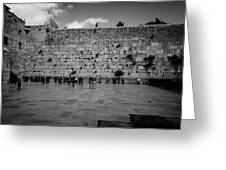 Praying At The Western Wall Greeting Card