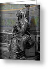 Praying Statue In Chantilly Greeting Card