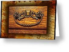 Pre-civil War Bookcase-drawer Pull Greeting Card