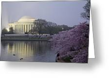 Pre-dawn At The Jefferson Memorial 2 Greeting Card