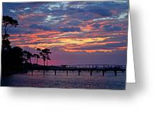 Pre-dawn Colors On Santa Rosa Sound Greeting Card