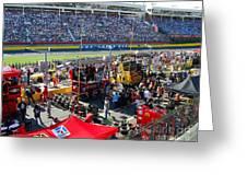 Pre-race Festivities Greeting Card
