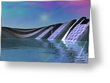 Precious Water Alien Landscape Greeting Card
