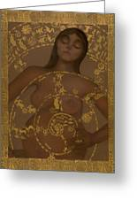 Pregnant Mother Goddess Greeting Card by Diana Perfect