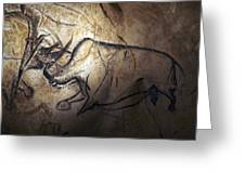 Prehistoric Cave Paintings, Chauvet Greeting Card