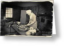 Preparing Dinner Greeting Card