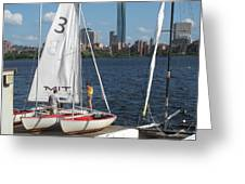 Preparing To Sail In The City. Greeting Card