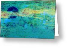 Prescott Blue Abstract Greeting Card