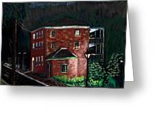Prescott Park At Night Greeting Card by Francois Lamothe