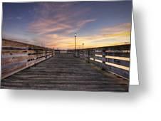 Prescott Park Boardwalk Greeting Card by Eric Gendron