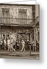 Preservation Hall Sepia Greeting Card
