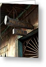 Preservation Hall Greeting Card