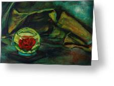Preserved Rose . . Draped Canvas Greeting Card