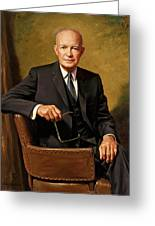 President Dwight D. Eisenhower By J. Anthony Wills Greeting Card