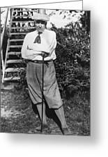President Harding Playing Golf Greeting Card